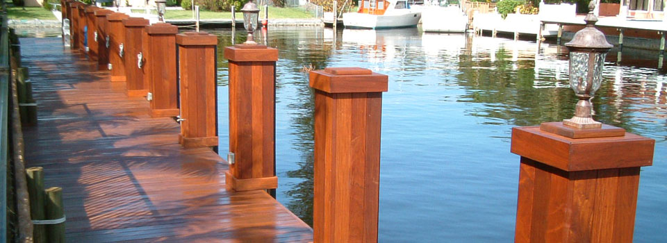 Beautiful Brazilian Hardwood Dock in South Florida