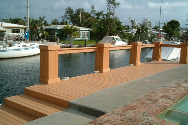 Sea Wall Cap & Wood Dock with Composite Deck