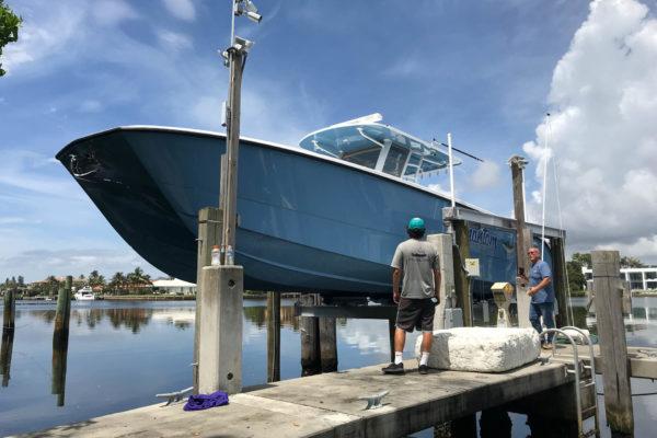 24,000 lb cradle lift in Palm Beach, Florida